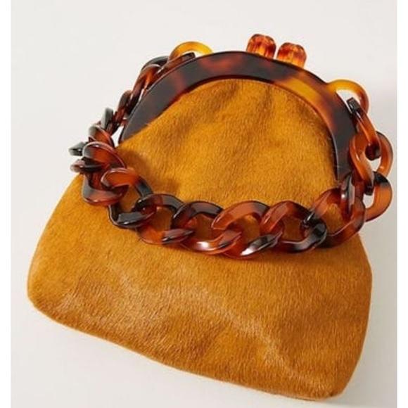 Anthropologie Handbags - NWT Anthropologie Lucite Chain Clutch